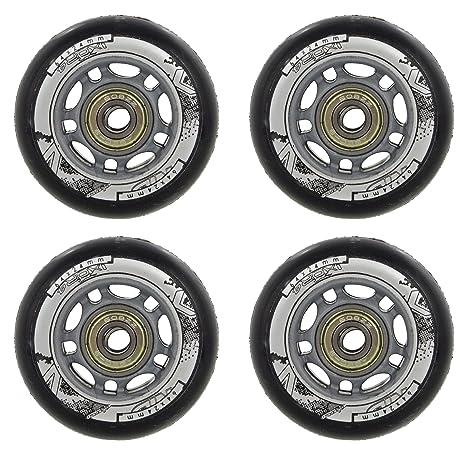 Set of 4 8x ABEC7 Bearings Nils Nils Inline Skating Wheels for Leisure Skating 82A 70 mm Polyurethane