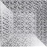 "Fantastic:) 6pcs/Set Mosaic Square 13""x13"" Speical Design Charger Plates (Set of 6, Mosaic Silver) ..."