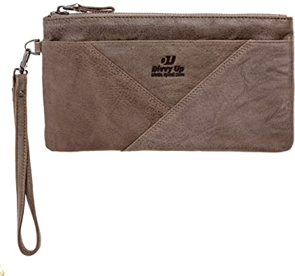 Divvy Up Genuine Leather Wristlet Super Soft Zipper Clutch Carry All for Women