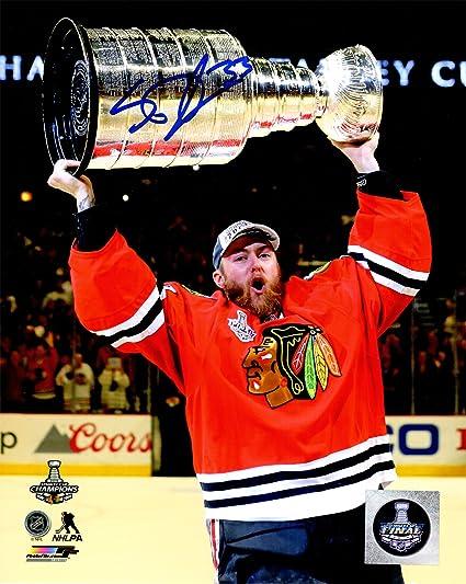 2da15cdc2 Scott Darling Signed Chicago Blackhawks 2015 Stanley Cup Trophy 8x10 Photo