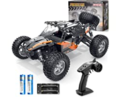 BEZGAR 3 Hobby Grade 1:12 Scale Beginner RC Trucks, 4WD High Speed 42 Km/h All Terrains Electric Toy Off Road Sand Rall Buggy