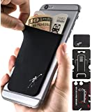 Phone Wallet - Adhesive Card Holder - Cell Phone Pouch - Stick on Lycra Pocket by Gecko - Carry Credit Cards and Cash - Football