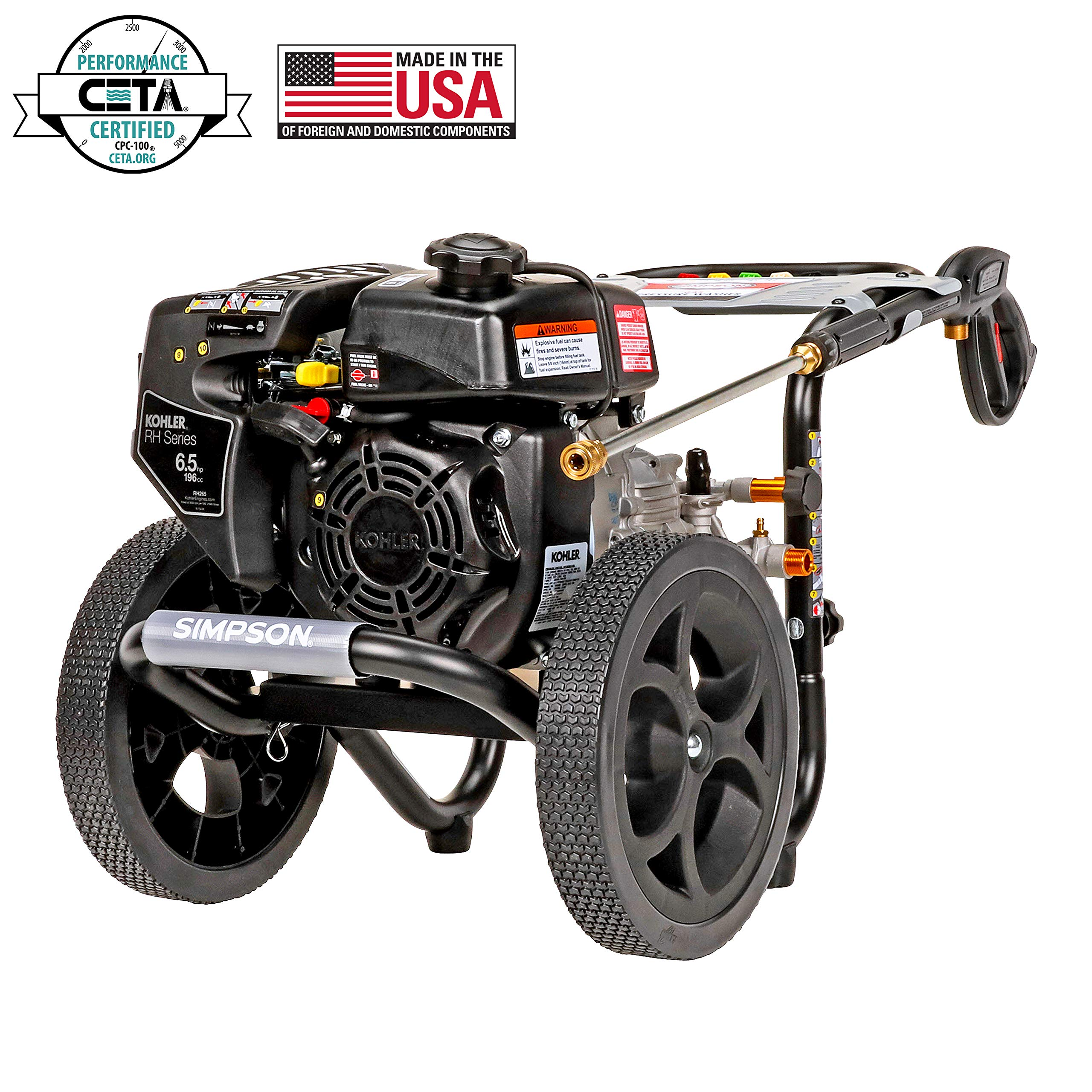 SIMPSON Cleaning MS60763-S MegaShot Gas Pressure Washer Powered by Kohler RH265, 3100 PSI at 2.4 GPM by Simpson Cleaning
