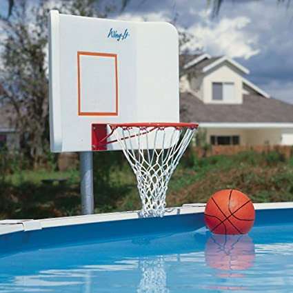 Amazon.com: POOL SHOT Wing it Swimming Pool Basketball Hoop for ...