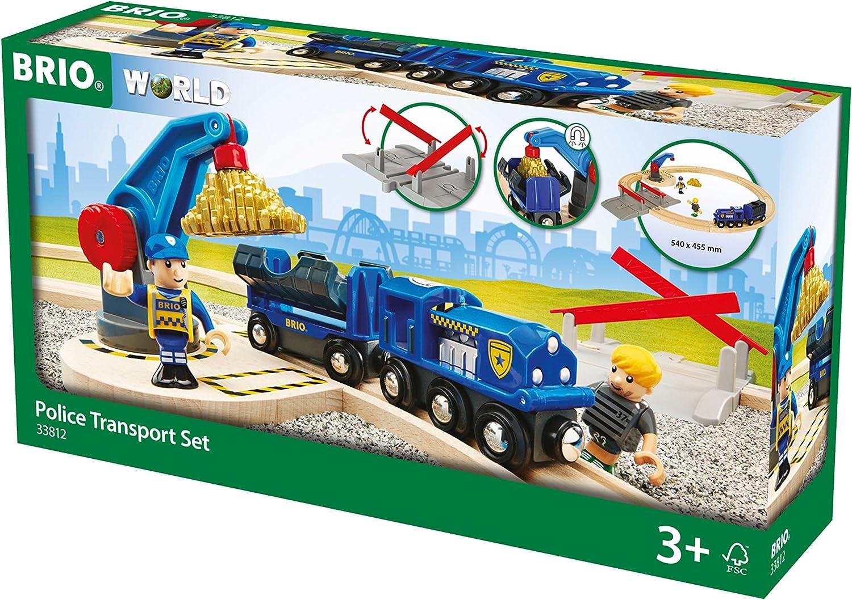Wooden Train Set BRIO World 33812 Police Gold Transport Set
