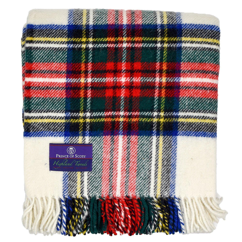 Prince of Scots Highland Tartanツイード100 % Pure New Wool Throw One Size B0759B6RFV Dress Stewart