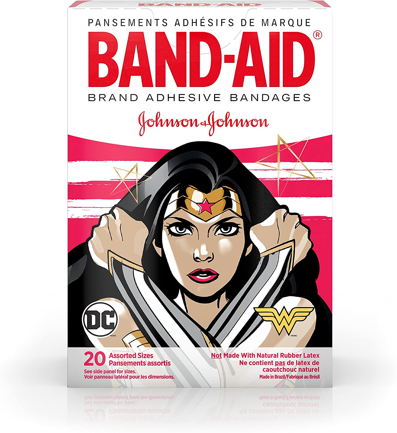 Band-Aid Brand Kids Adhesive Bandages for Minor Cuts /& Scrapes Wonder Woman 20 ct Assorted Sizes