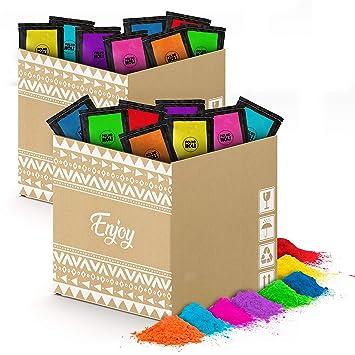 POLVO HOLI Pack 480 Bolsas de 100 Gramos - 8 Colores