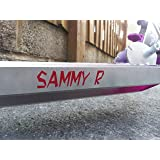 Kids Scooter Name Stickers, Quality Custom Vinyl Decals (12 Colours) (Font9)