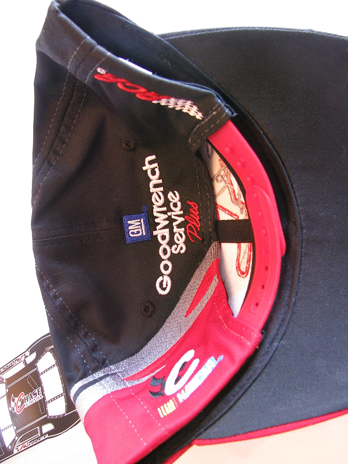 Amazon.com   Dale Earnhardt Sr  3 GM Goodwrench Service Plus Large  3 On  Brow Black With White Silver   Red Accents Hat Cap OSFM Chase Authentics    Sports   ... 917b8f1cb0e4
