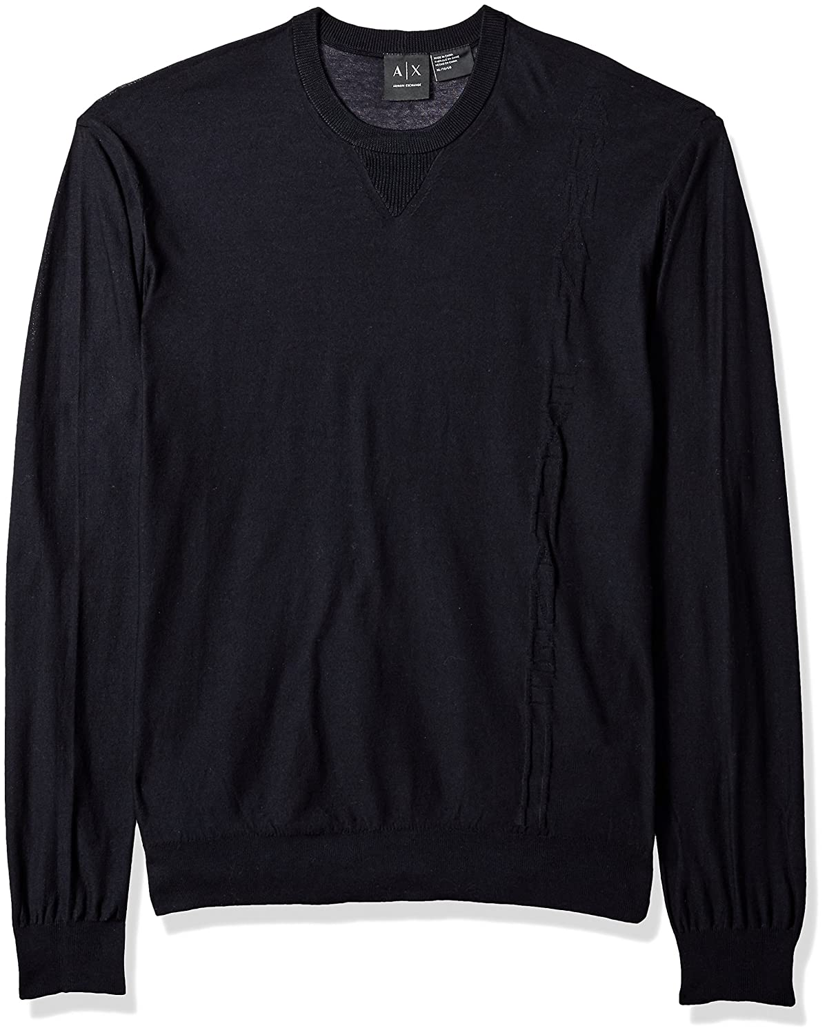 A|X Armani Exchange Men's Cotton Solid Pullover Black XL 8NZM86ZMH1Z1200