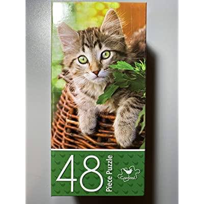 48 Piece Jigsaw Puzzle - Kitten - Cardinal Games Jigsaw Puzzle - Quick Shipping: Toys & Games
