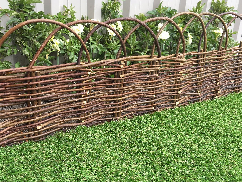 Marko Gardening Rigid Arched Willow Garden Edging 1M Panels Border ...