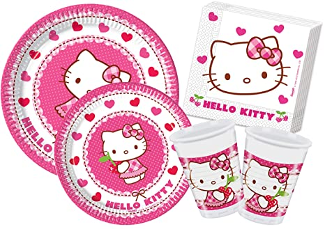 Ciao y4307 – Kit Día de tabla Hello Kitty Hearts, Rosa/Blanco
