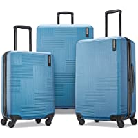 American Tourister Stratum XLT Expandable Hardside Luggage with Spinner Wheels, Blue Spruce, 3-Piece Set (20/24/28)