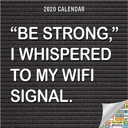 Calendario 2020, divertido y triste, calendario de pared con más de 100 pegatinas de calendario (citas de regalo de Navidad, suministros de oficina): Amazon.es: Oficina y papelería
