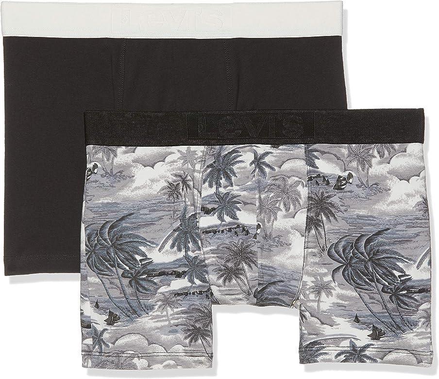 Levis Levis 200sf Aloha Print Boxer Brief 2p, Negro (Caviar 703), Small (Pack de 2) para Hombre: Amazon.es: Ropa y accesorios