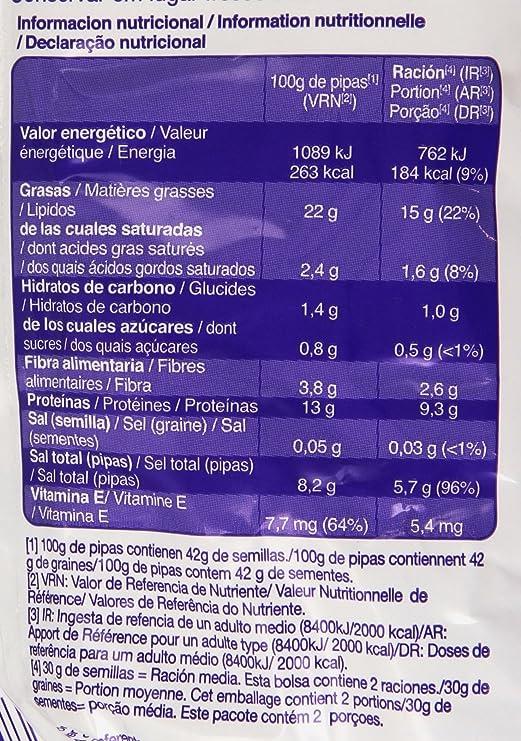 Pipas G - Con Sal - Semillas de girasol tostadas - 165 g: Amazon.es: Alimentación y bebidas