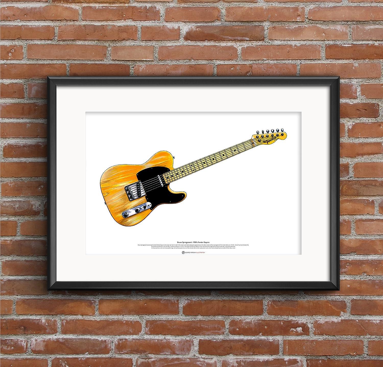 George Morgan Illustration Fender Esquire Guitarra de Bruce ...