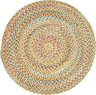 """product image for Capel Rugs Ocracoke Round Braided Area Rug, 36"""", Amber"""