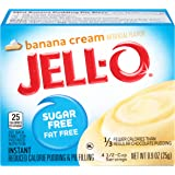 Jell-O Sugar-Free Banana Cream Instant Pudding Mix 0.9 Ounce Box (Pack of 6)