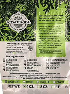 product image for VITAMINSEA Organic Dulse Whole Leaf - 4 OZ - Raw Atlantic Seaweed Vegan Certified (DW4)