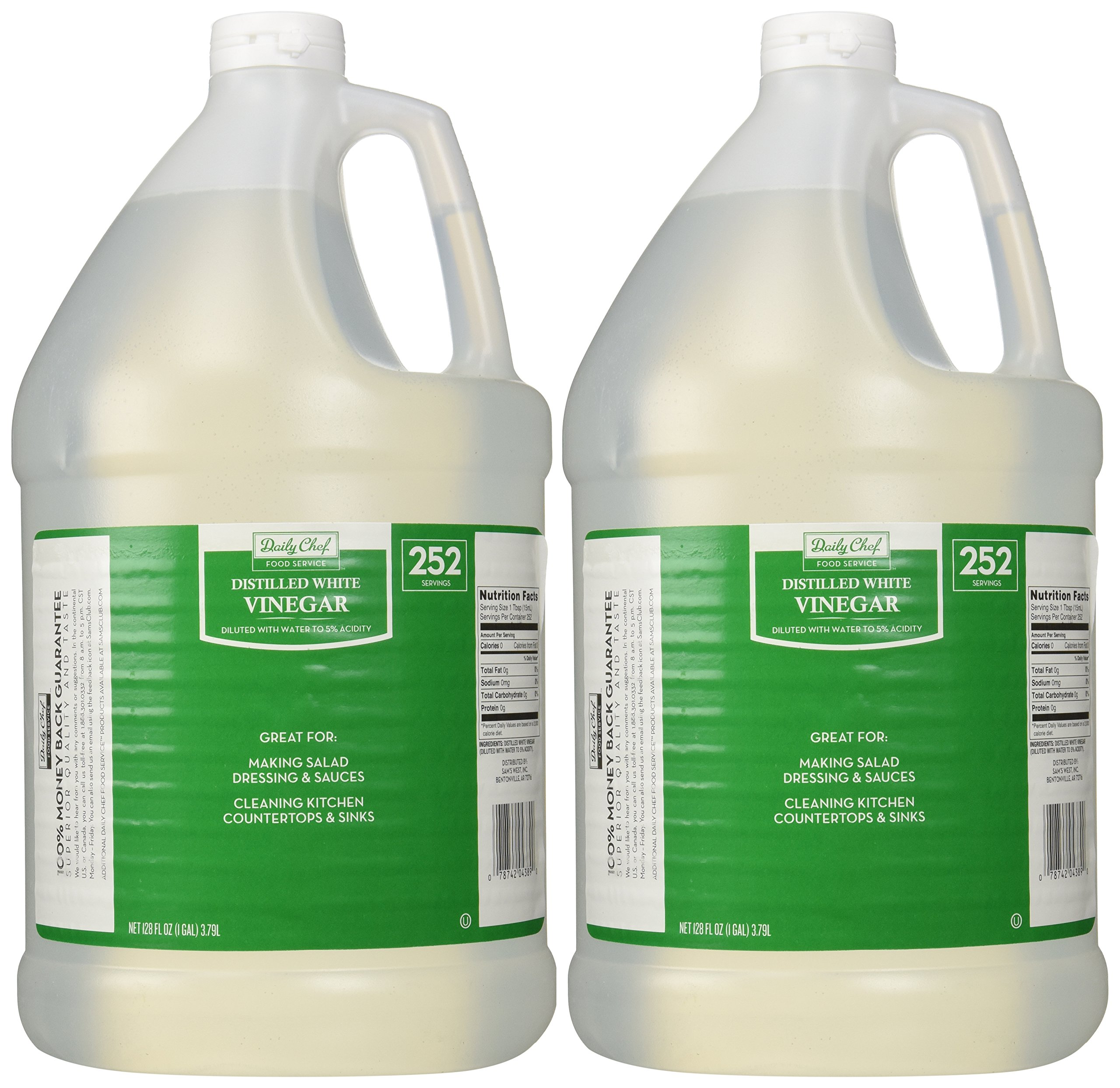 Daily Chef Distilled White Vinegar 2/1 gallon jugs (2 PACK)