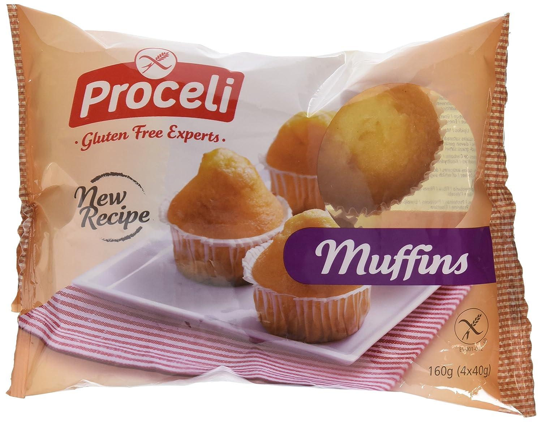 Proceli Muffins Sin Gluten - Paquete de 4 x 40 gr - Total ...