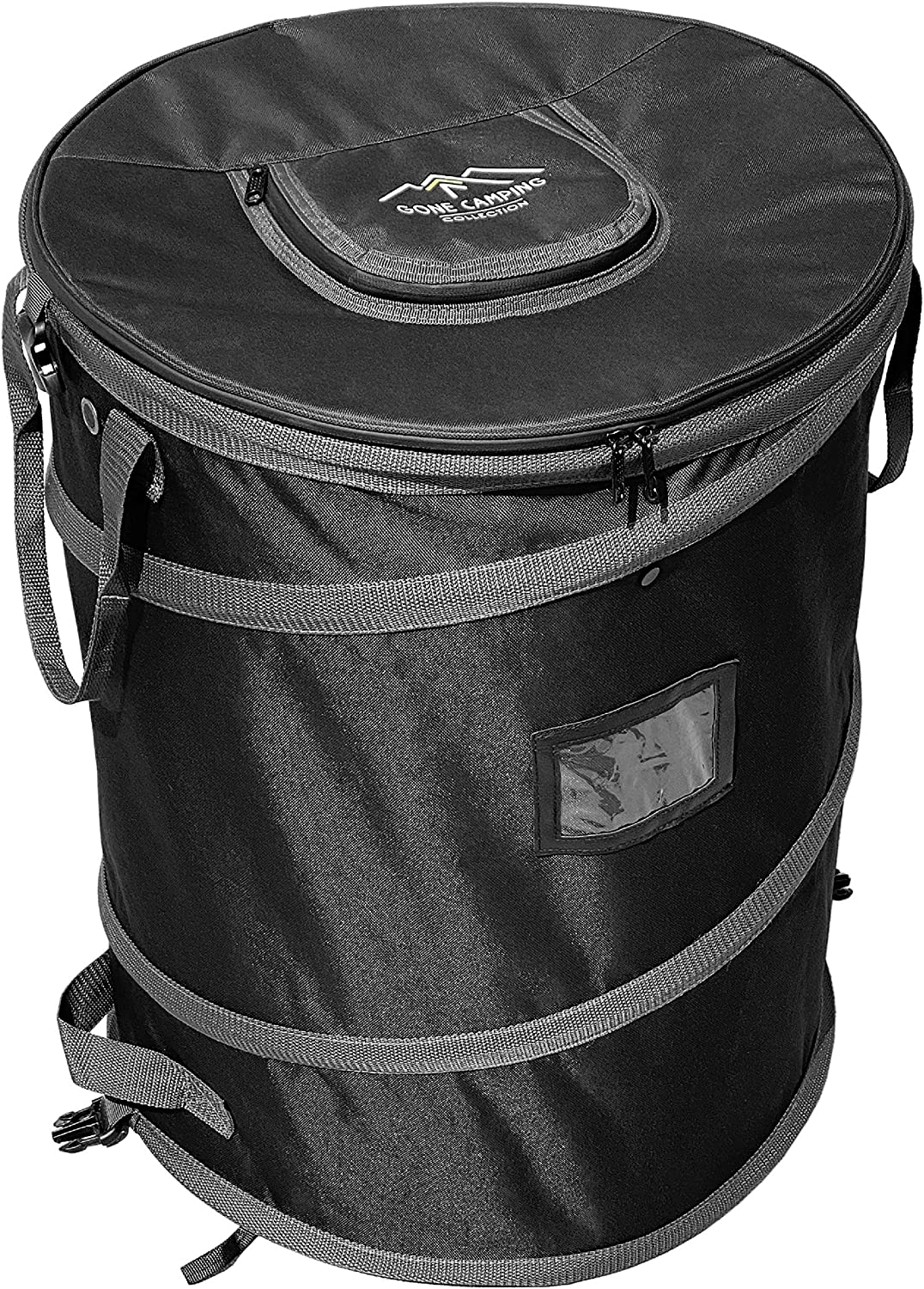 Trailersphere Collapsible Bin Trash & Recycle/Utility, Gone Camping Collection, Perfect for Camping, Laundry, Storage and Garden, Waterproof and Tear Resistance, Trash and/or Recycle