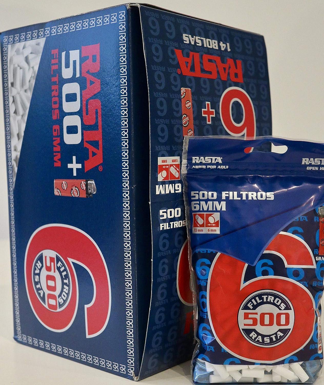 7000 filtros finos slim 6mm. Rasta, liar tabaco,14 bolsas de 500 filtros c/u.: Amazon.es: Oficina y papelería