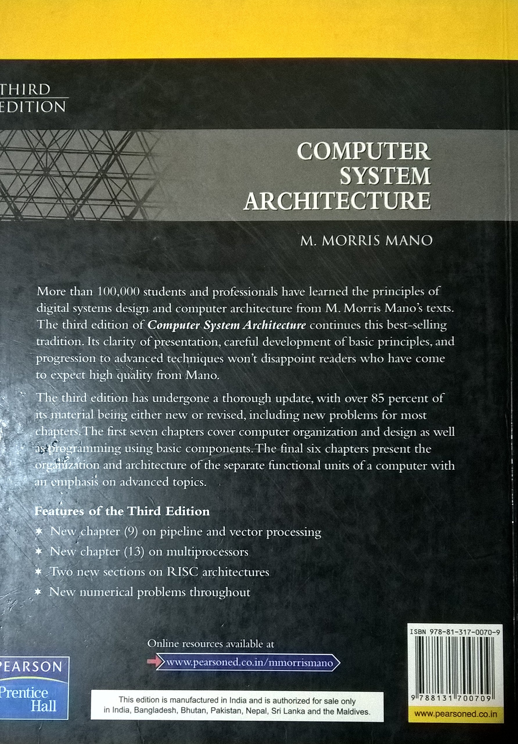 buy computer system architecture 3e book online at low prices in