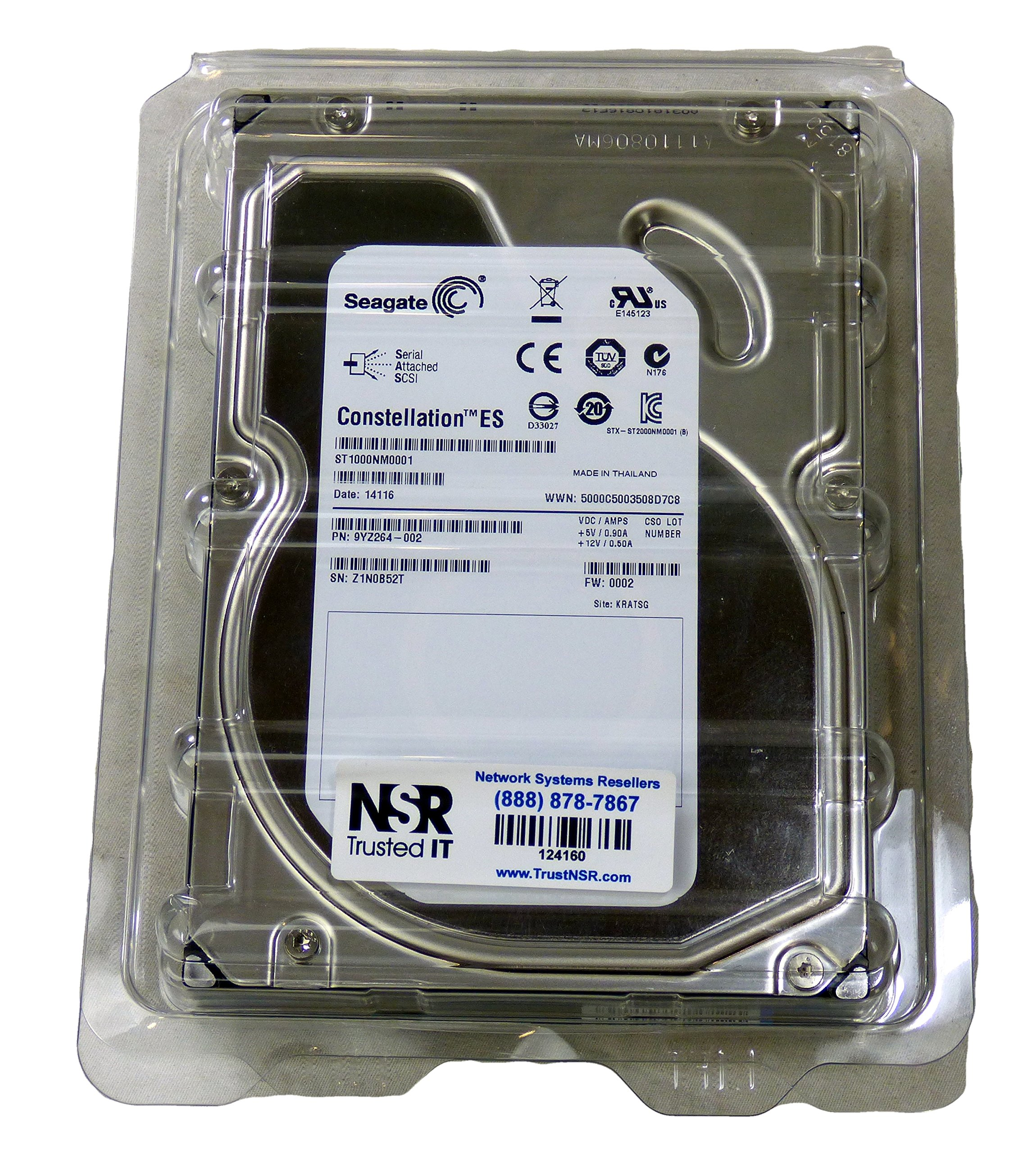 Seagate Constellation ES 1 TB 7200RPM 6 Gb/s SAS 64MB Cache 3.5 Inch Internal Bare Drive (ST1000NM0001) by SEBA9 (Image #1)