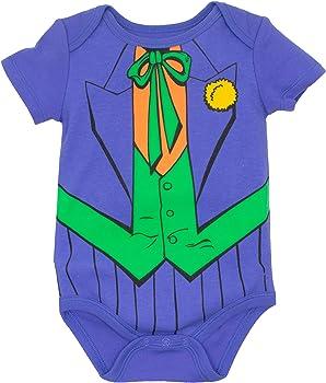 DC Comics Body de Superhéroes - Batman, Robin, el Joker y Riddler para Bebé-Niños (Pack de 5), Multi 0-3 Meses: Amazon.es: Ropa y accesorios