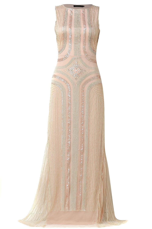 ArtiDeco 1920s Flapper Sequin Dress Roaring 20s Fancy Dress Gatsby Costume Dress Sequin Vintage Beaded Long Evening Dress: Amazon.co.uk: Clothing