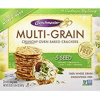 Crunchmaster Multi-Grain 5-Seed Crackers Gluten Free, 20 Oz