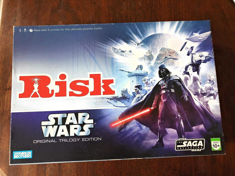 Amazon Com Hasbro Risk Star Wars Original Trilogy Edition Toys Games