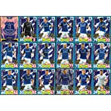 MATCH ATTAX 2017/18 EVERTON FULL 18 CARD TEAM SET 17/18