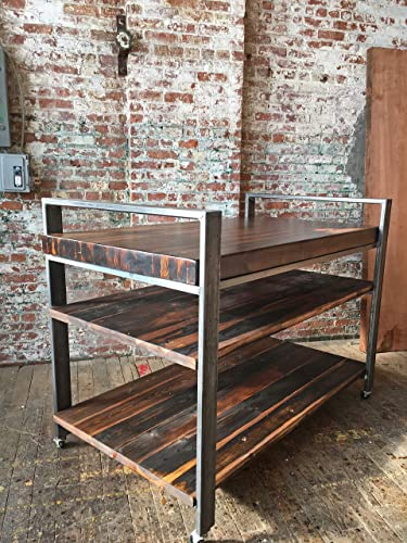 Amazon.com: Industrial Butcher Block Kitchen Island: Handmade
