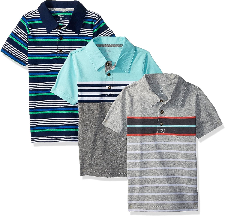 kurz/ärmlig Simple Joys by Carters Kleinkind Jungen Poloshirt 3er-Pack