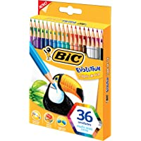 Lápis de Cor, Bic, Evolution, 930230, 36 Cores
