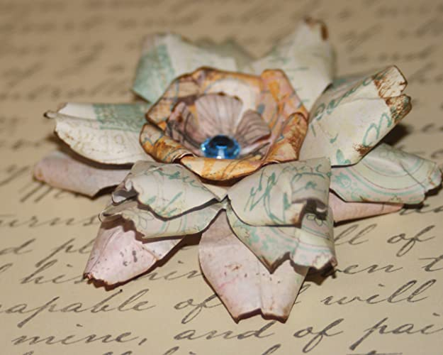 Amazon Paper Roses Paper Flowers Shabby Chic Scrapbook
