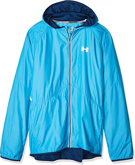 Blue Under Armour Storm Mens Printed Running Jacket