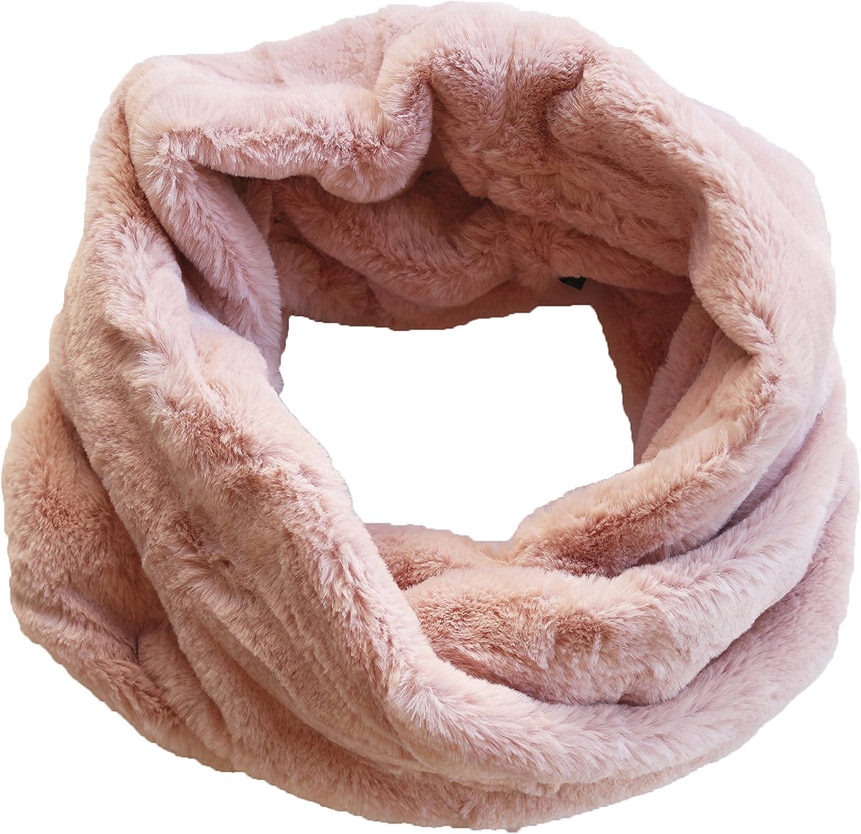 Scialle Grob a maglia con Echt PELZ conigli loop con pelzdeco da commestibili si7226