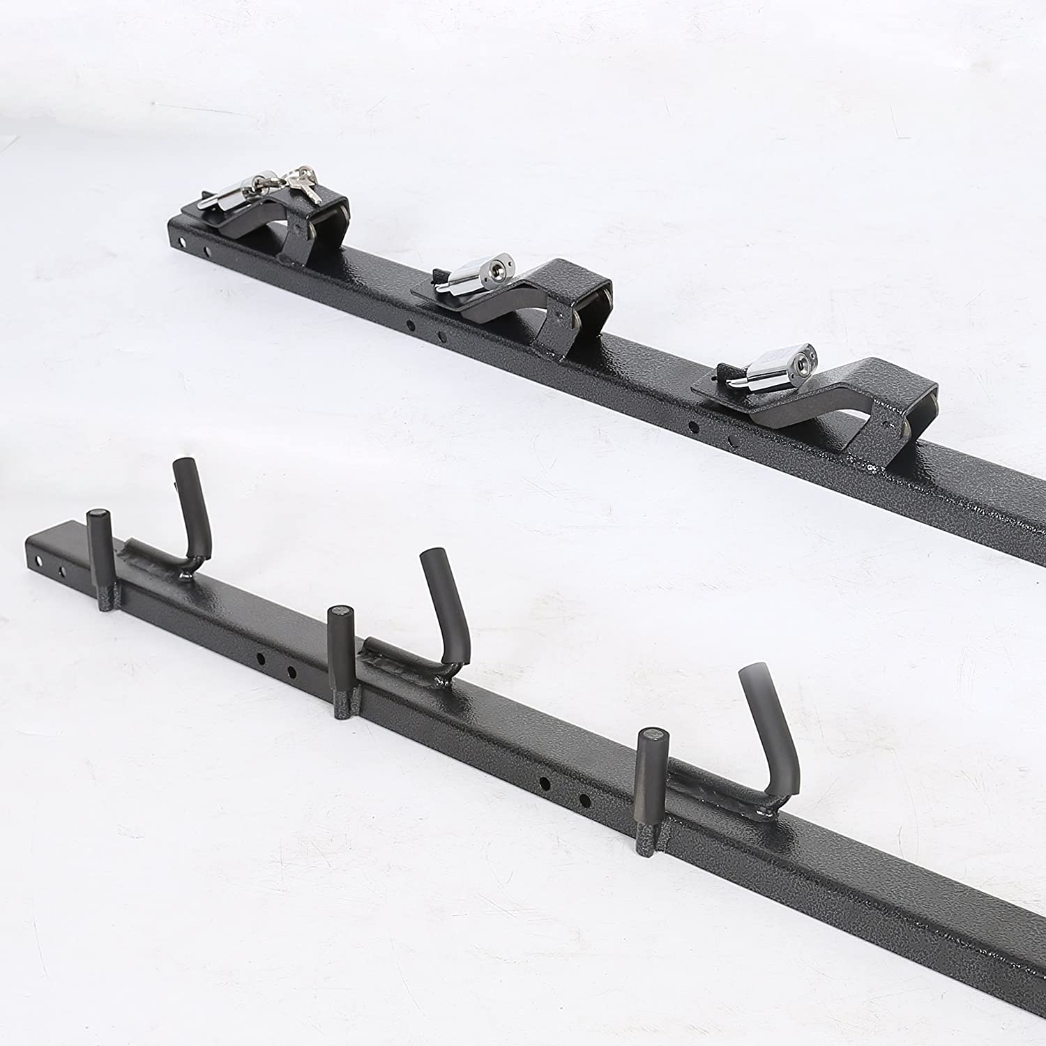 JMTAAT 3 Place Heavy Duty Trimmer Rack Holder Mount on Pickup//Trailer Weed-Eater Edgers Shaft Hedge Clippers Enclosed Gas Carrier New