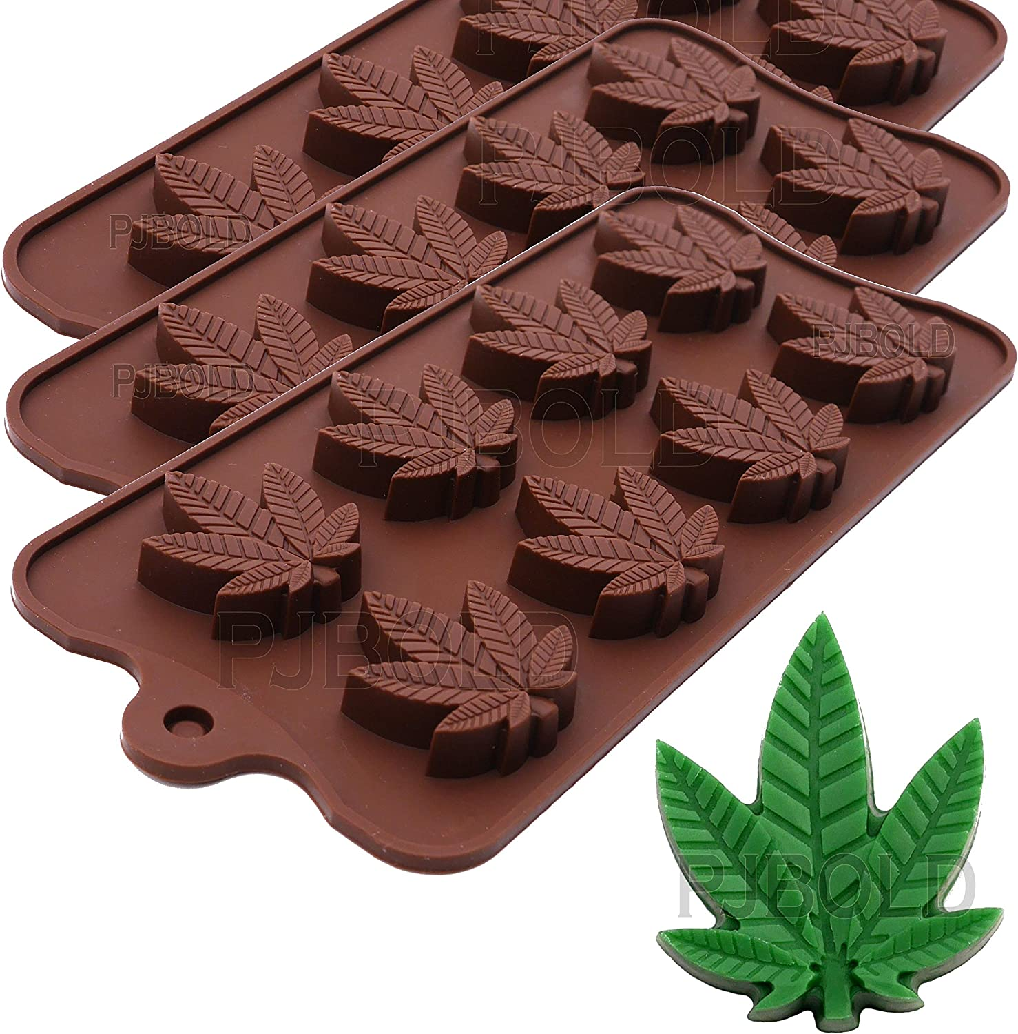 Leaf Silicone Candy Mold, 3pk