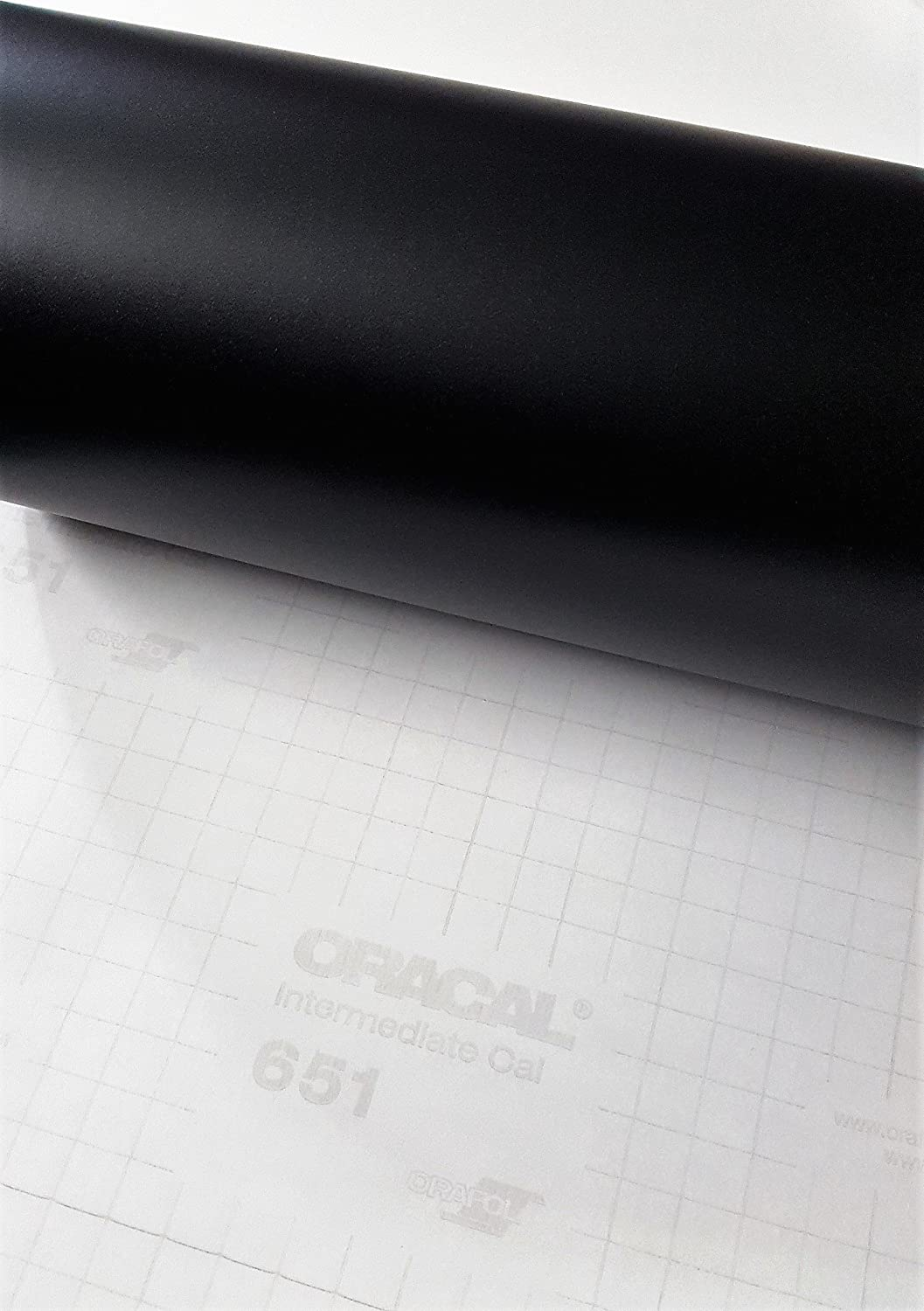 Roll of Oracal 651 Matte Black Vinyl for Craft Cutters and Vinyl Sign Cutters (12 x6FT) Original Oracal 61