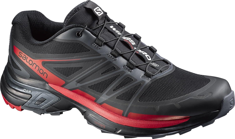 Salomon Wings Pro 2, Zapatillas de Trail Running para Hombre 46 EU|Negro