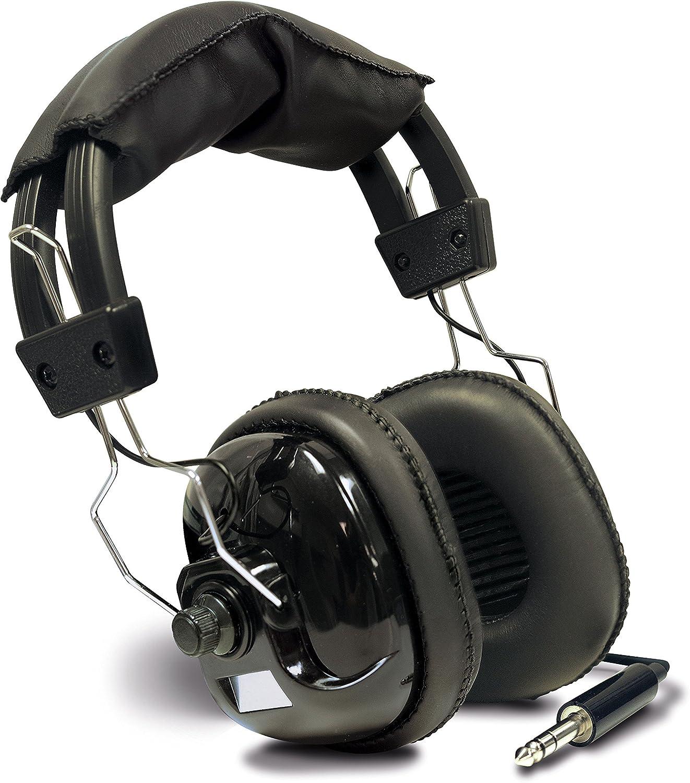 """Minelab RPG Metal Detector Headphones Dual Volume Control 1//4"""" Plug"""