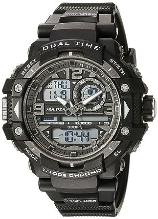 269e91e0d0a5 Armitron Sport Men's 20/5062BLK Analog-Digital Chronograph Black Resin  Strap Watch
