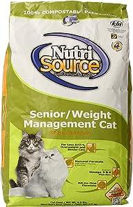 Nutri Source Cat Senior Weight Management Chicken/Rice Food 6.6lb